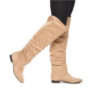 Shoedazzle Shoes - Camel colored knee high boots.