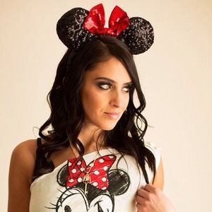 disney Accessories - Disney Minnie Mouse sequins ears