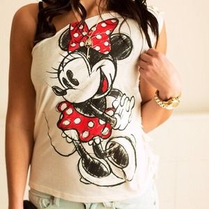 Wet seal Minnie Mouse tee shirt size S