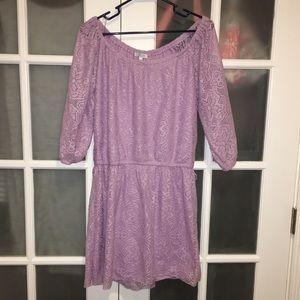 """Light Purple Delia's Crochet 3/4"""" Sleeve Dress"""