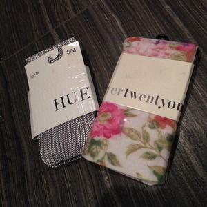 Hue Accessories - Transitional to spring tights bundle NWT