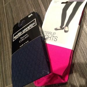 Capelli Accessories - Navy and hot pink tights bundle NWT