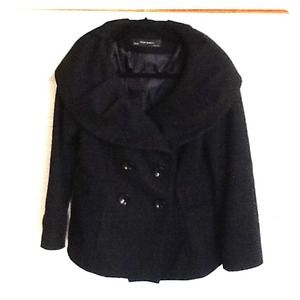 Zara Jackets & Blazers - Double breasted Black Jacket