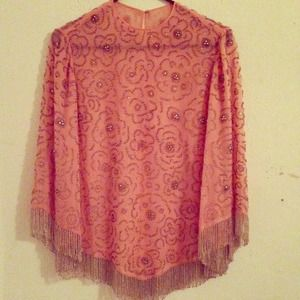 vintage Tops - Beaded long sleeve shirt