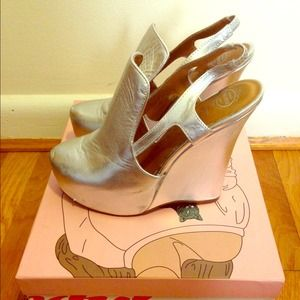 Jeffrey Campbell Shoes - Jeffrey Campbell Darian Silver Wedge