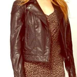 ASOS Jackets & Blazers - ASOS CURVE faux leather biker jacket