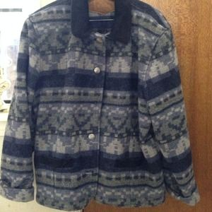 Woolrich Jackets & Blazers - Wool blue tones, suede collar excellent condition