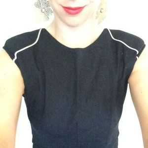 Geren Ford Black Fitted Dress Sz Small