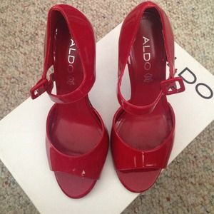 ALDO Shoes - Red patent leather Mary Janes