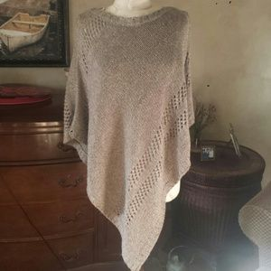 Sweaters - NWOT Light Brown Sweater Poncho