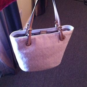 Michael Kors Monogram Mirror Metallic Tote