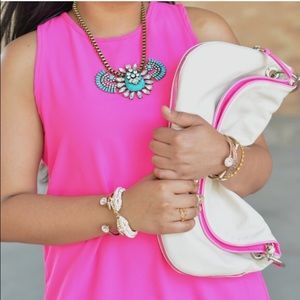 Jessica Simpson Handbags - PM Editor pick! White oversized clutch