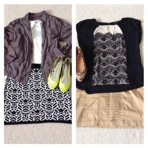 Other - H&M skirt & black lace top bundle