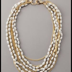 "Fragments Pave Barrel-bead Necklace 20-24""L NWT"