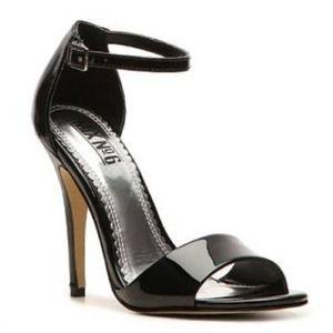 Black heel classic sandals - stilettos