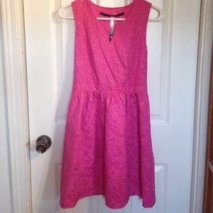 Kensie pink a-line dress