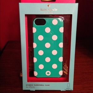Kate Spade La Pavillion Green & White iPhone Case