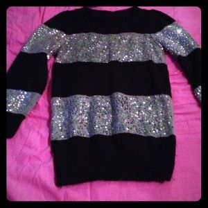 Sequin striped shine sweaterREDUCED