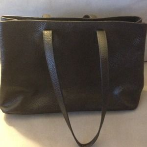 Black Leather Furla Tote