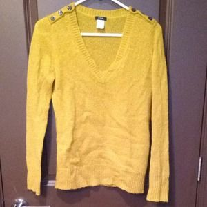 J. Crew Sweaters - J. Crew vneck chartreuse sweater, great condition