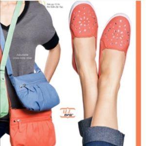 🎁Dazzling Slip-On Jewel Like Embellished  Coral 7