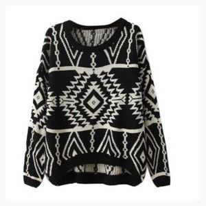 Sweaters - 🆕Geometric knit pullover sweater