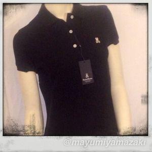 Psycho Bunny Tops - Women's Psycho Bunny Cotton Polo Shirt  Black L