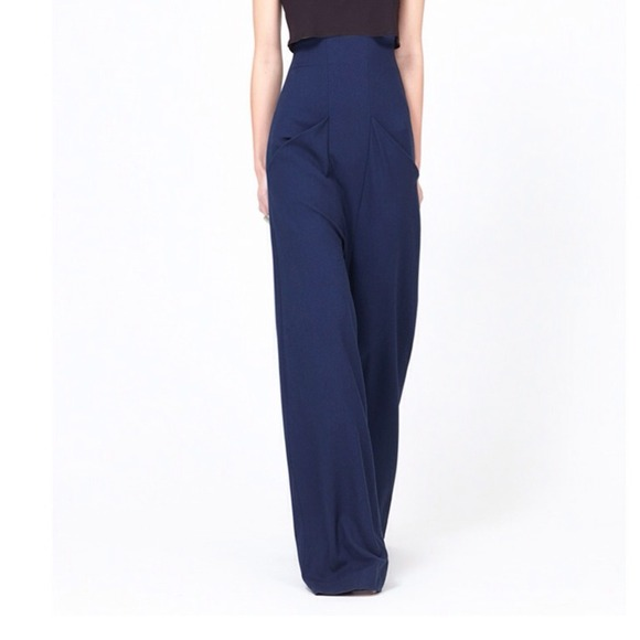 63% off Assembly NY Pants - Wide Leg Gaucho Pants in Navy. NWOT ...