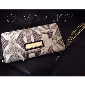 Olivia + Joy Python Wallet with Wristlet