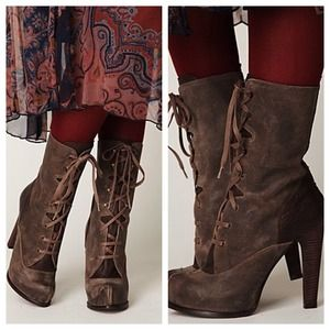 Hoss for Free People Victorian Boot Piedro --Stone