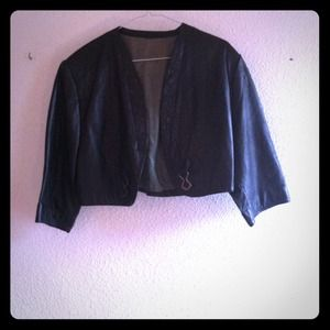 Vintage leather bolero jacket.