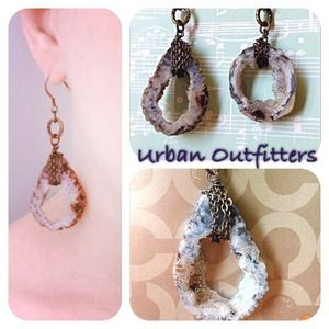 HP! Urban Outfitters rock & crystal earrings