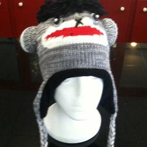 Sock monkey novelty hat