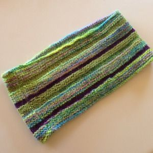 handmade Accessories - Green, Blue & Purple Infinity Cowl Neck Knit Scarf