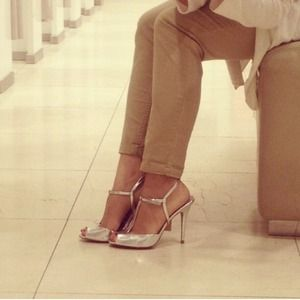 Zara Shoes - Zara silver heels