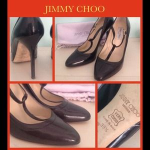 Jimmy Choo London Black high heel Mary Jane's