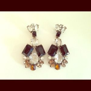 J. Crew crystal earrings for pierced ears