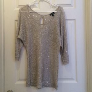 bebe Tops - Bebe gold and sequin top size small