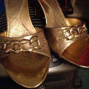 New listing: gold sandal