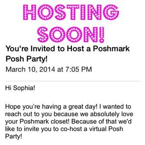 🎉IM HOSTING A POSH PARTY!!🎉