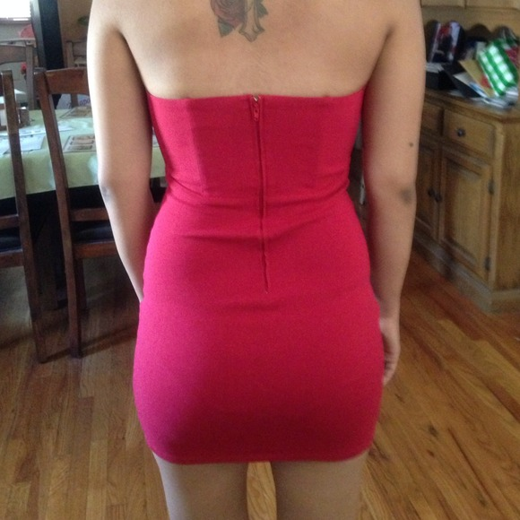 Red helix dress