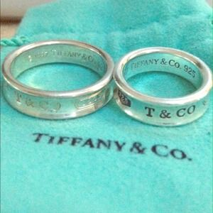 Authentic Tiffany his & hers silver band