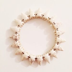Jewelry - White Stone Spike Bracelet