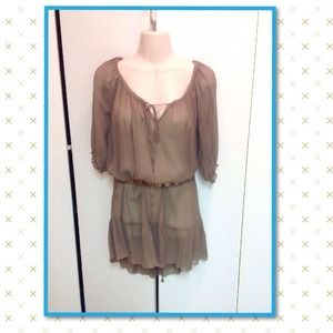 Cabi Sheer Tunic Top