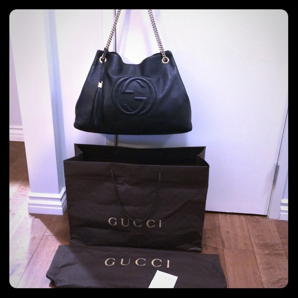 b354da46a Gucci Bags | Sold On Ebay Black Large Soho Chain Bag | Poshmark