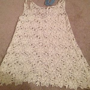 Brandy Melville Dresses & Skirts - Brandy Melville crochet dress White size small