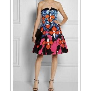 Peter Pilotto for Target Dresses - Peter Pilotto Red Iris Signature Dress 4