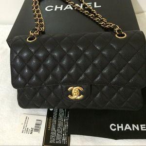 d3687c13ee10 CHANEL Bags | Sold Classic Flap Bag Medium Black Ghw | Poshmark