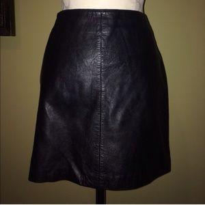 Dresses & Skirts - Black Genuine Leather Mini Skirt