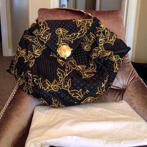 Versace Nappa Baroque stiched bag